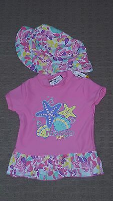"**BNWT** Girl's ""Mango Surf"" Rash Top & Matching Hat – Size 0"