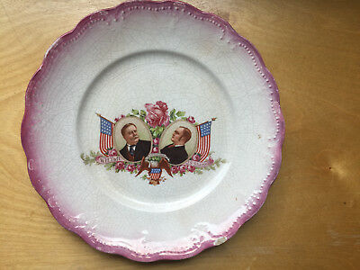 Campaign Plate 1908 William H. Taft & J. S. Sherman