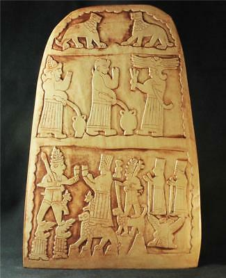 BABYLONIAN BEER FESTIVAL STELE bas-relief wall plaque ancient replica