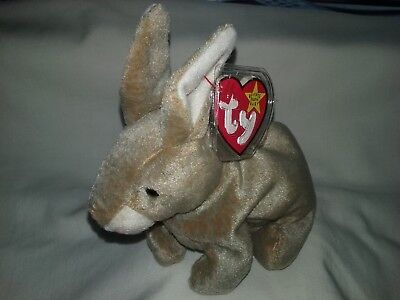 """Ty Beanie Baby 1998  """" Nibbly """" The Brown Rabbit"""