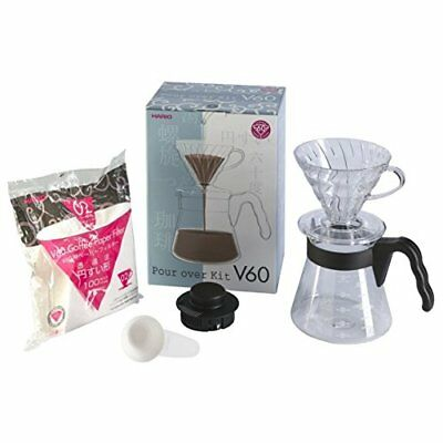 Hario Pour Over Kit with 700 ml V60 Dripper/Coffee Server/Filter Papers/Measurin