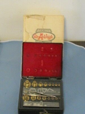 Vintage OHAUS Sto-A-Weigh Combination Weight Set IOB Model 5256 (31)