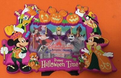 Disney Hong Kong Disneyland Mickey Minnie Halloween Magnet Stand Frame