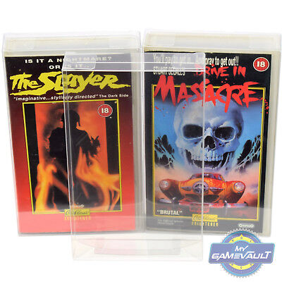 3 x VHS Video BOX PROTECTORS Strong 0.5mm PLASTIC DISPLAY CASE Clamshell type