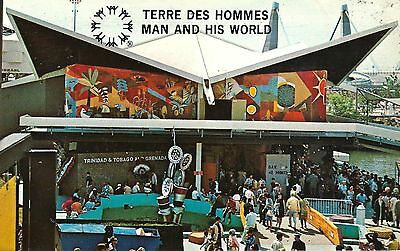 MONTREAL EXPO 1967 Postcard - TRINIDAD AND TOBAGO PAVILION