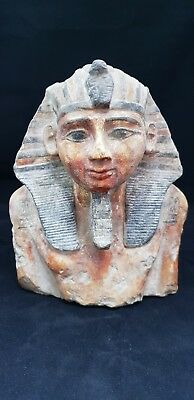 ANCIENT ANTIQUE Egyptian LARGE statue of KING RAMSES II 3 kg 1279-1213 BC