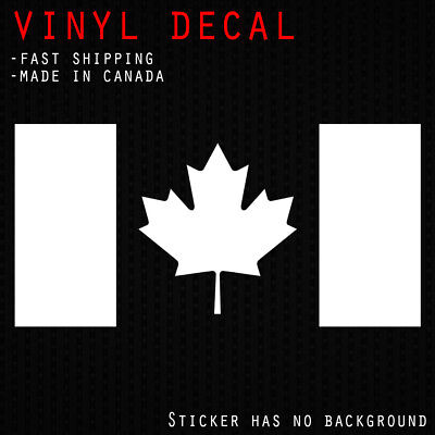 Canada Flag Decal | Maple Leaf Canadian Car Window Door Bumper Vinyl Sticker