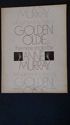 "ANNE MURRAY ""Will Somebody Be A Golden Oldie"" 1976 Original Promo Poster Ad"