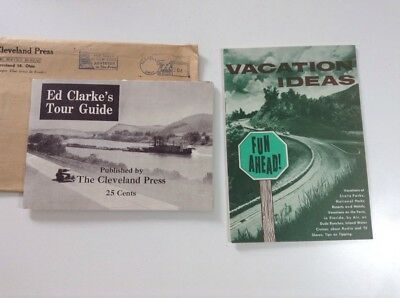 The Cleveland Press OHIO - Vintage Ed Clark's Tour Guide 1955 Vacation