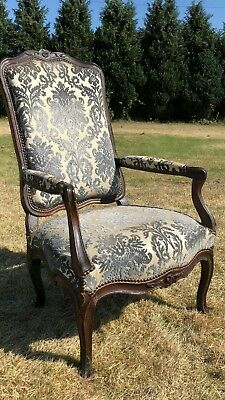 Antique Vintage Beautiful Upholstered French Chair *