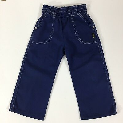 Toddler Kids Vintage Cotton Blue Jeans Dungarees Devil Dog Western Size 3