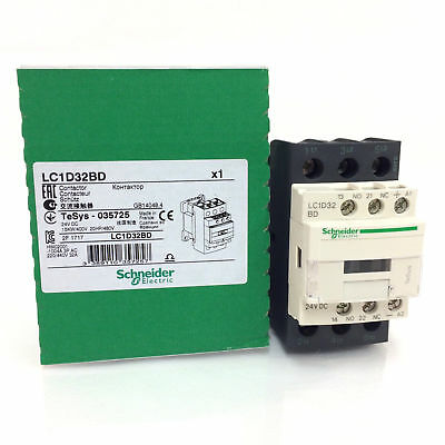 Schneider LC1D32BD 3 Pole Contactor, 3NO, 32 A,15 kW, 24 V dc Coil, TeSys 035725