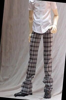 [wamami] 300# Brown/coffee Plaid Trousers/trousers Suitable For BJD SD17 DZ 17
