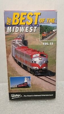 The Best of the Midwest Vol II PENTREX VHS railroad videotapes North Western