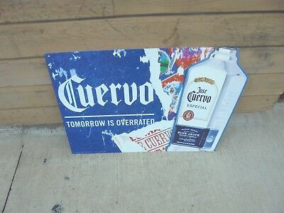 """metal sign jose cuervo blue agave silver tequila tomorrow is overrated 30"""" X 20"""""""