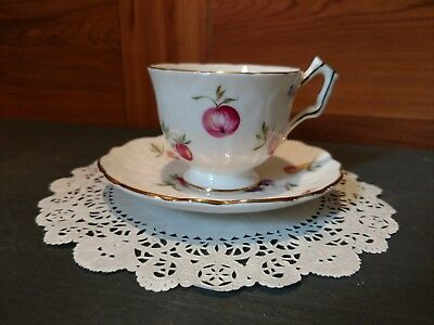 "1 Aynsley ""Florida"" Fine Bone China Tea Cup & Saucer Set Made In England"