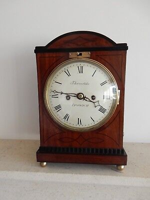 A Fine Small George III Fusee Bracket Clock by Samuel Thorndike Ipswich c1795