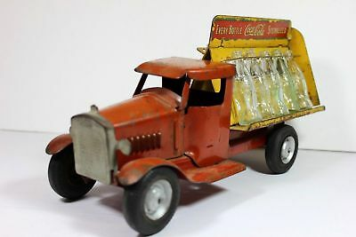 1930's Original Pressed Steel Metalcraft Coca Cola Bottling Truck advertising