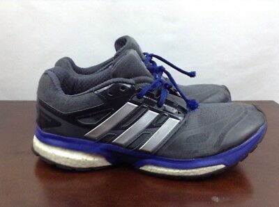 quality design 7a16f ab5f4 used Adidas response Boost tech fit mens size 9 black blue