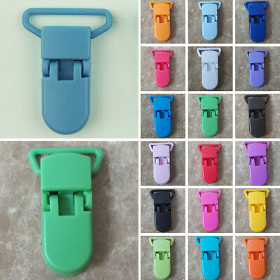 10 Pcs Nipple Baby Pacifier Infant Plastic Colorful Clips Dummy Bulk Holder