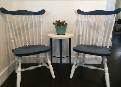 Windsor Chairs And Small Table