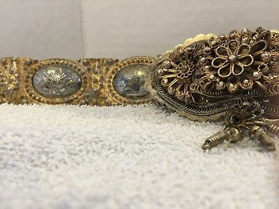 Museum quality 19th Century Ottoman Empire Niello paneled belt~Turkish Atatürk
