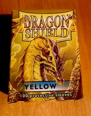 Dragon Shield Yellow Protective Sleeves 100 Count Plus 7 Xtra D D Dungeons Card