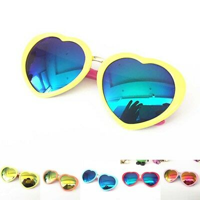 Goggles New Glasses Baby Color Film Heart Kids Sunglasses Girls Boys Anti-UV