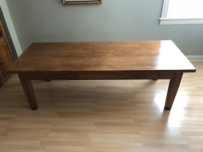 Vintage oak library table