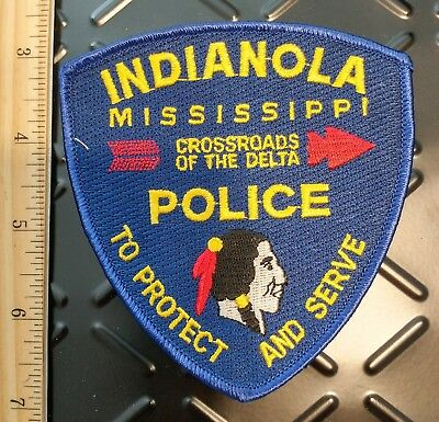 Indianola Mississippi MS Police Department Patch