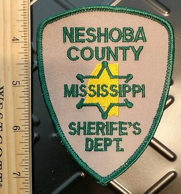 "Neshoba County CO Mississippi MS Sheriff's Department Police Patch ""MISPRINT"""