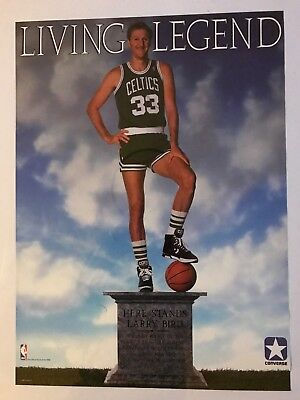 8f9476bbafc2 Vintage Converse NBA Larry Bird Celtics Legend Advertising Poster 1988  Authentic