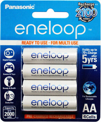 Panasonic Eneloop AA 2000mAh LSD NiMH Rechargeable Batteries 4pk -4th Generation