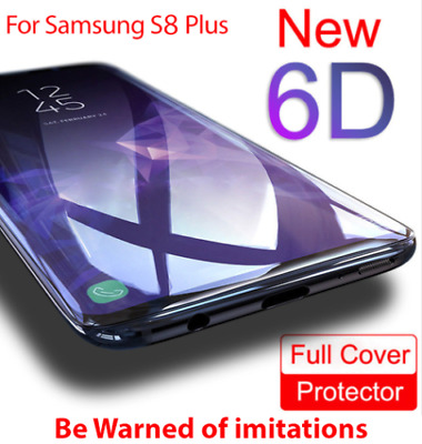 6D Full Cover Tempered Glass Screen Protector for Samsung Galaxy S8 S9Plus