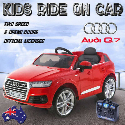 12V 70W Licensed Audi Q7 Electric Kids Ride On Car Remote Control Battery Gift