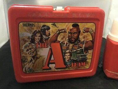Vintage Lunch Box With Thermos The A-Team Plastic