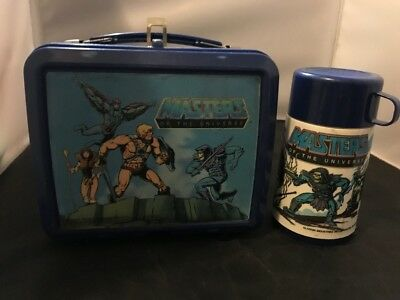 Vintage Lunch Box With Thermos Masters Of The Universe