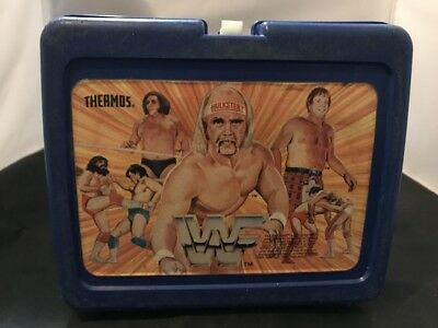 Vintage Lunch Box 1985 Wwf Hulk Hogan Rowdy Piper Andre The Giant