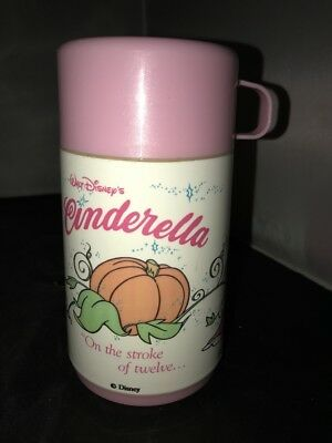 Vintage Lunch Box Thermos Only Disney Cinderella Pink Cup