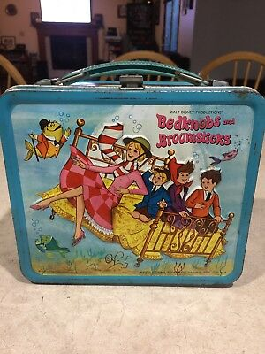 Disney Bedknobs And Broomsticks Metal Lunch Box No Thermos Vintage