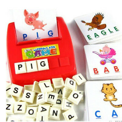 Educational Aids Children Kid Puzzles Toys Learning English Tool Spell The Word