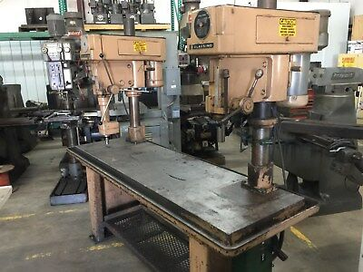 """Two Clausing Step Pulley Gang Drill Press Model 2230  (20"""") 80"""" X 24"""" Table"""