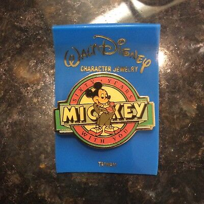 1988 Sixty Years With You Mickey Mouse Disney Pin mint condition