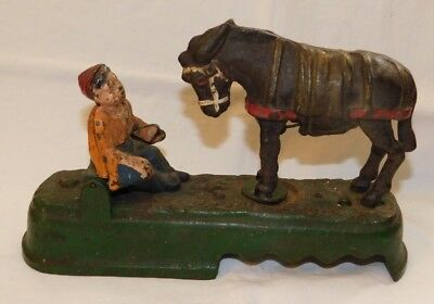 RARE old Always Did Spise A Mule Cast Iron Mechanical Bank