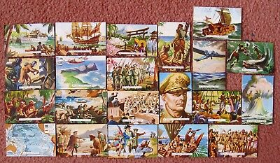 c1954 SANITARIUM  Cards/Plates: THE  STORY  OF  THE  PACIFIC  x 21  + Free Post
