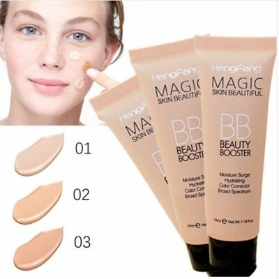 Women Face Powder Cream BB Cream Concealer Moisturing Makeup Foundation bu8L