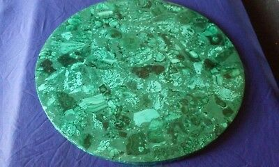 round malachite top [ 13 3/4'' ]