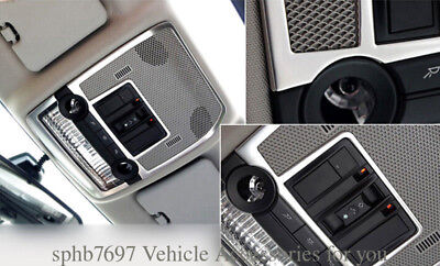 For BMW X5 E70 2008-2013 Stainless Interior Front Reading Light Cover Trim 2PCS