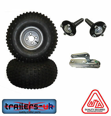 ATV Trailer Kit inc Wheels, Hubs & Stubs and Coupling -HEAVY DUTY- FREE Delivery