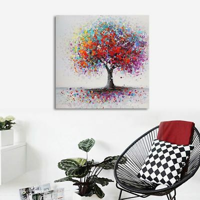 Colorful Tree Canvas Print Painting Art Picture Home Wall Decor Unframed/Framed